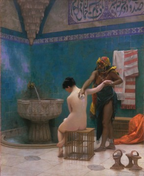 Le bain Jean Leon Gerome The Bath Ölgemälde