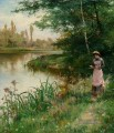 A Walk by the River Alfred Glendening JR Landschaft