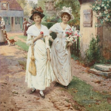 the annunciation 1785 Ölbilder verkaufen - Strangers to the Village Alfred Glendening JR Frauen Mädchen