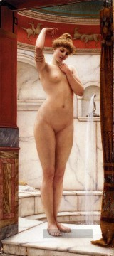 A Pompeian Bath Dame Nacktheit John William Godward Ölgemälde