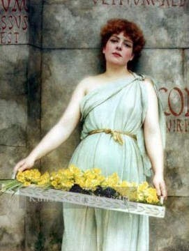 Blumen Verkäufer 1896 Neoclassicist Dame John William Godward Ölgemälde