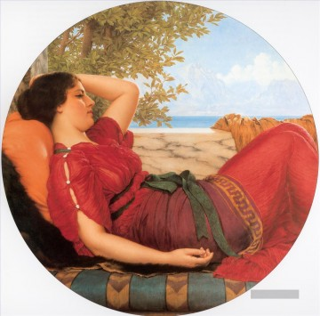 In Realms of Fancy Neoclassicist Dame John William Godward Ölgemälde