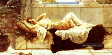Liegende Neoclassicist Dame John William Godward Ölgemälde
