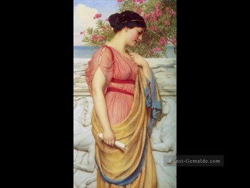 1910 Kunst - Sappho 1910 Neoclassicist Dame John William Godward
