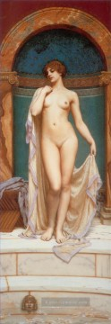 Venus im Bad Dame Nacktheit John William Godward Ölgemälde