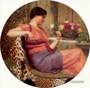 W The Time of Roses 1916 Neoclassicist Dame John William Godward