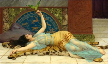 John William Godward Sweet Idleness  A Pompeian Fishpond Dolce Far Niente Ölgemälde