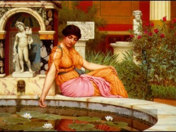 Lily Pond 1901 Neoclassicist Dame John William Godward Ölgemälde