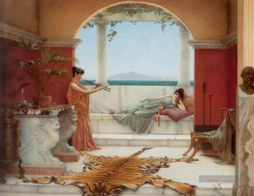 The Sweet Siesta eines Sommertages Neoclassicist Dame John William Godward Ölgemälde
