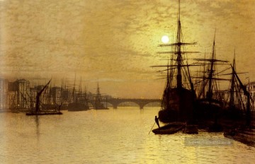Thames Künstler - Die Themse Below London Bridge Stadtlandschaften John Atkinson Grimshaw