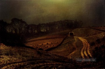 Stadtlandschaften Kunst - Under The harvest Moon Stadtlandschaften John Atkinson Grimshaw