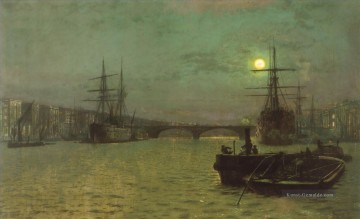 Stadtlandschaften Kunst - London BridgeHalf Tide Stadtlandschaften John Atkinson Grimshaw