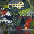 Houses at Unterach on the Attersee Gustav Klimt
