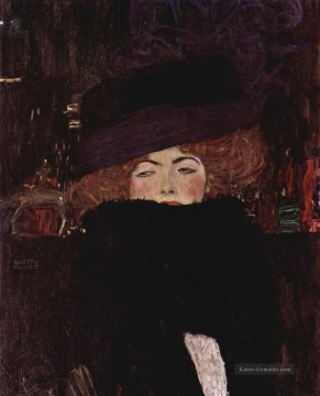 Gustave Klimt Werke - Lady with Hat and Featherboa Gustav Klimt