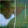 Lakeside with Birch Trees Gustav Klimt
