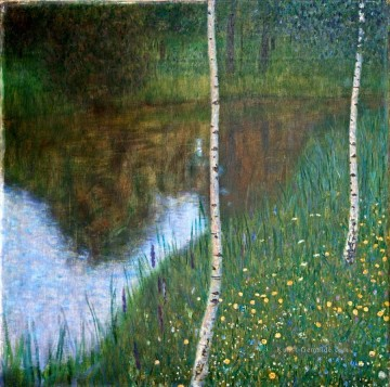 Gustave Klimt Werke - Lakeside with Birch Trees Gustav Klimt