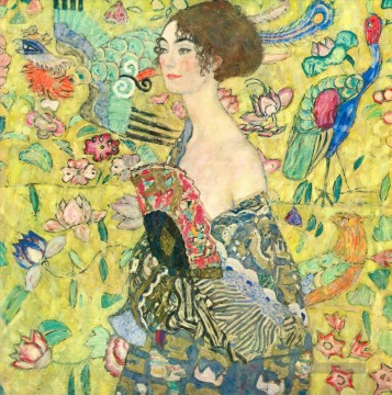 Gustave Klimt Werke - Lady with Fan 2 Gustav Klimt