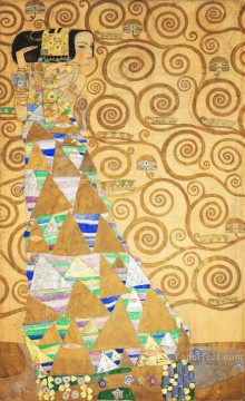 the annunciation 1785 Ölbilder verkaufen - The Tree of Life Stoclet Frieze left Gustav Klimt