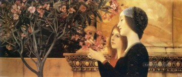 Gustave Klimt Werke - Two Girls With An Oleander Gustav Klimt