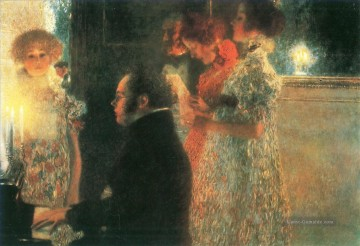 Gustave Klimt Werke - Schubert at the piano I Gustav Klimt