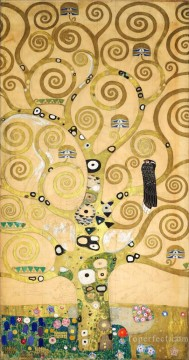 the annunciation 1785 Ölbilder verkaufen - The Tree of Life Stoclet Frieze center Gustav Klimt gold