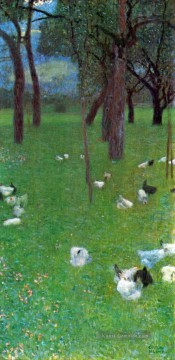 Gustave Klimt Werke - After the Rain Garden with Chickens in St Agatha Gustav Klimt