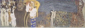 Der Beethoven Der Hostile Powers Far Wand Gustav Klimt Frieze Ölgemälde
