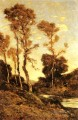 Herbstlicher Fluss Landschaft Barbizon Henri Joseph Harpignies