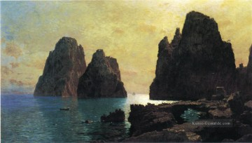 lion Galerie - Die Faraglioni Rocks Szenerie Luminism William Stanley Haseltine