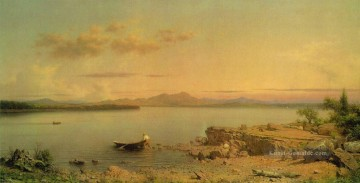 George Ölgemälde - See George ATC Romantischen Martin Johnson Heade