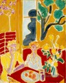 Deux fillettes fond jaune et rouge Two Girls in a Yellow and Red Interior 1947 Modernismus Henri Matisse