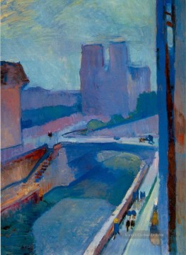 Henri Matisse Werke - Notre Dame une fin d apres midi A Glimpse of Notre Dame in the Late Afternoon 1902130Kb Modernismus Henri Matisse