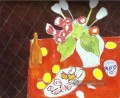 Tulips and Oysters on Black Background Modernismus Henri Matisse