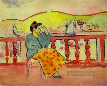 the annunciation 1785 Ölbilder verkaufen - Lady on the Terrace abstrakter Fauvm Henri Matisse