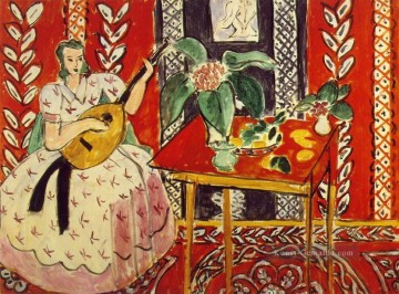 the annunciation 1785 Ölbilder verkaufen - The Lute Le luth Februar 1943 abstrakter Fauvismus Henri Matisse