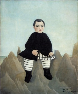 Henri Rousseau Werke - Boy on the Rocks enfant aux rochers Henri Rousseau Post Impressionism Naive Primitivism