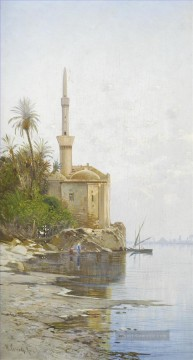 Hermann David Salomon Corrodi Werke - Am Ufer der Nil 2 Hermann David Salomon Corrodi orientalische Kulisse