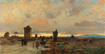Hermann David Salomon Corrodi Werke - Via appia antica Hermann David Salomon Corrodi orientalische Landschaft