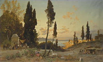 Hermann David Salomon Corrodi Werke - Vista sul bosforo costantinopoli Hermann David Salomon Corrodi orientalische Landschaft