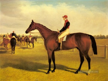 Don John  den Gewinner des 1838St Leger Mit William Scott Up Herring Snr John Frederick Pferd Ölgemälde