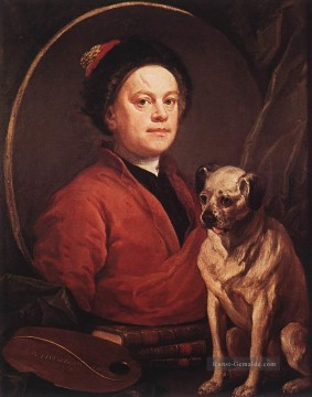 Mops Kunst - Der Maler und sein Mops William Hogarth