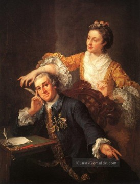 David Garrick und seine Frau William Hogarth Ölgemälde