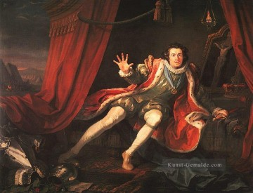 David Garrick als Richard 3 William Hogarth Ölgemälde