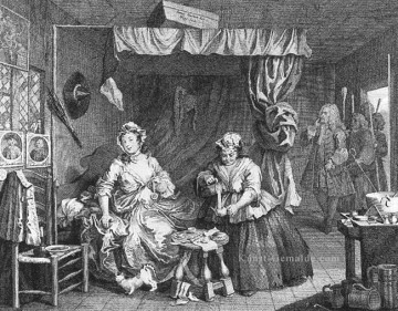 A Harlots Fortschritt Platte 3of 6 William Hogarth Ölgemälde