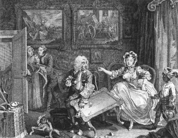 A Harlots Fortschritt Platte 2of 6 William Hogarth Ölgemälde