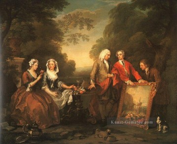 Die Fountaine Familie William Hogarth Ölgemälde
