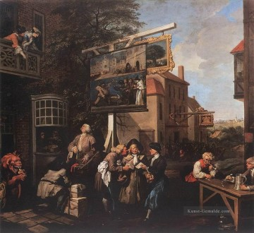 Soliciting Stimmen William Hogarth Ölgemälde