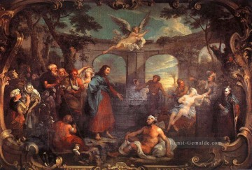 der Pool von Bethesda William Hogarth Ölgemälde