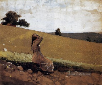 Hill Kunst - The Green Hill alias auf dem Hügel Realismus Maler Winslow Homer