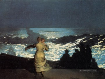 Summer Künstler - A Sommer Night Realismus Marinemaler Winslow Homer